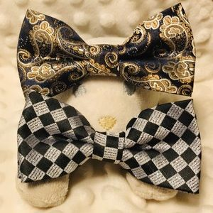 Other - Bow ties for Baby and Toddler navy paisley checker